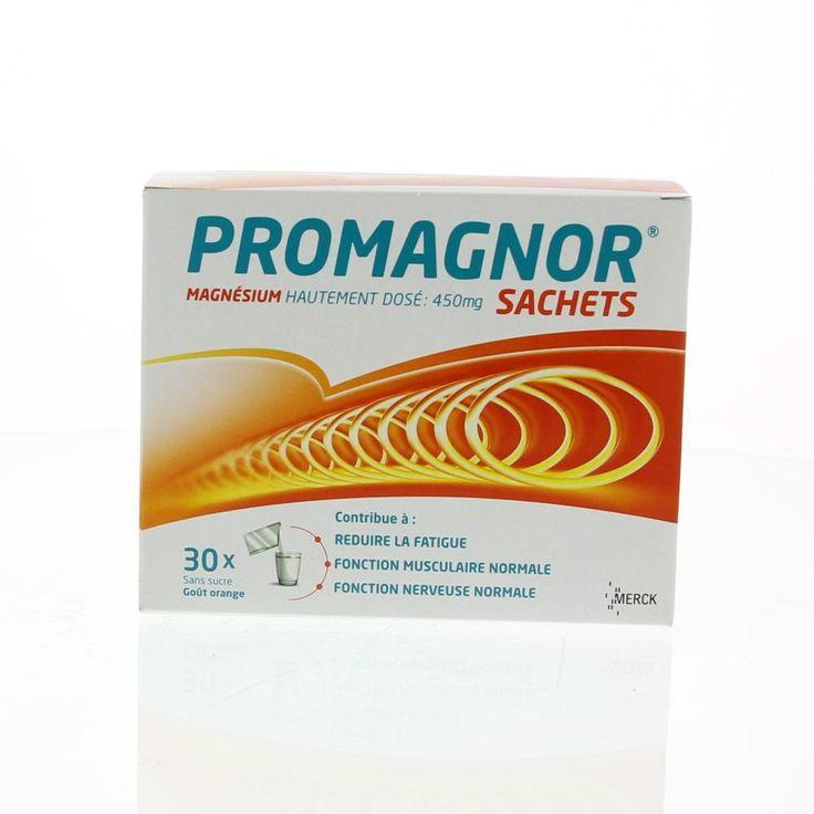 Merck Promagnor Zakjes Mineraal 30Zakjes  Promagnor 30 Zakjes Magnesium 450mg. Magnesium is een mineraal zoals calcium ijzer en andere dat bij tal van lichaamsfuncties onmisbaar is. Ons lichaam kan zelf geen magnesium aanmaken en is daarom aangewezen op de dagelijkse inname van magnesium uit de voeding. Onze hedendaagse voedingsgewoonten kunnen echter gemakkelijk leiden tot een ontoereikende magnesiumopname. Bovendien zijn er een aantal specifieke omstandigheden zoals de groeifase…