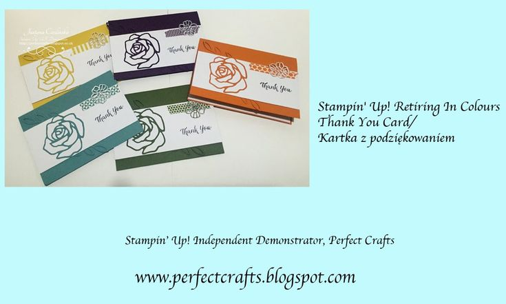 UK Stampin' Up! Independent Demonstrator Justyna (Perfect Crafts) Stampin' Up! Retiring 2014-2016 In Colours Card Set http://perfectcrafts.blogspot.co.uk/2016/03/stampin-up-retiring-2014-2016-in.html  #stampinup #thankyoucard #handmadecard #kartka #stampinupuk