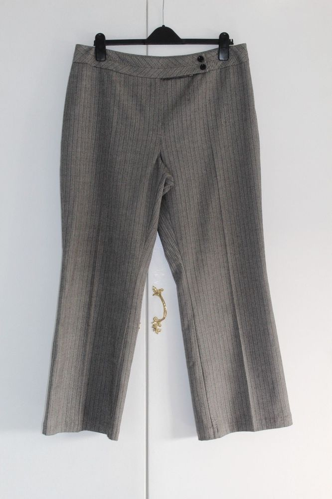 UK 18 M MARKS AND SPENCER Trousers Grey and Black (187) #MarksandSpencer #Tailored