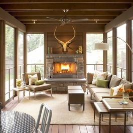 Detached Screened Porch Design Ideas, Pictures, Remodel, and Decor
