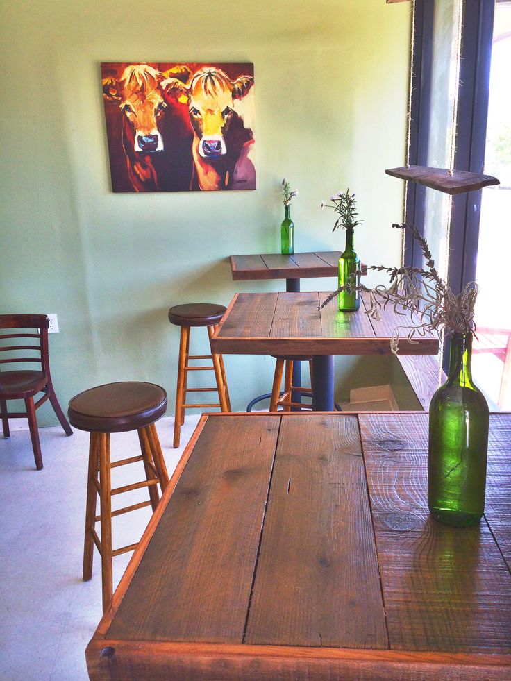 Cafe Tables By Urban Mining Co In The SF Bay Area. #reclaimed #wood