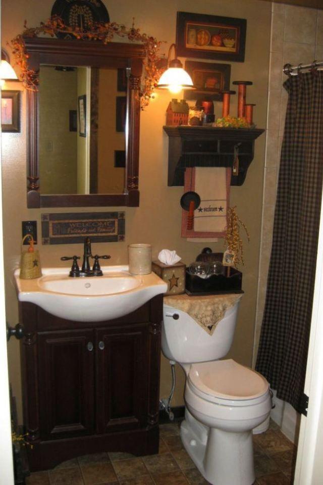 5 Colonial Bathroom Love This Idea For A Primitive Bathroom Colonial Bathroom 1 Country Bathroom Decor Country Bathroom Designs Small Country Bathrooms