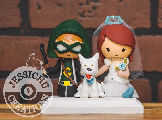 Marvel Comics Wedding Cake Toppers