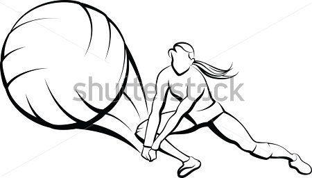 Chica Voleibol Dig imágenes prediseñadas (clip arts) - ClipartLogo.com