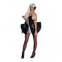 RUBIE'S Disfraz adulto Lady Gaga negro/plateado - talla S - UKA Digital