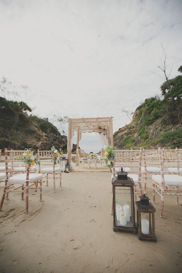 Bohemian Byron Bay wedding on the beach :-)