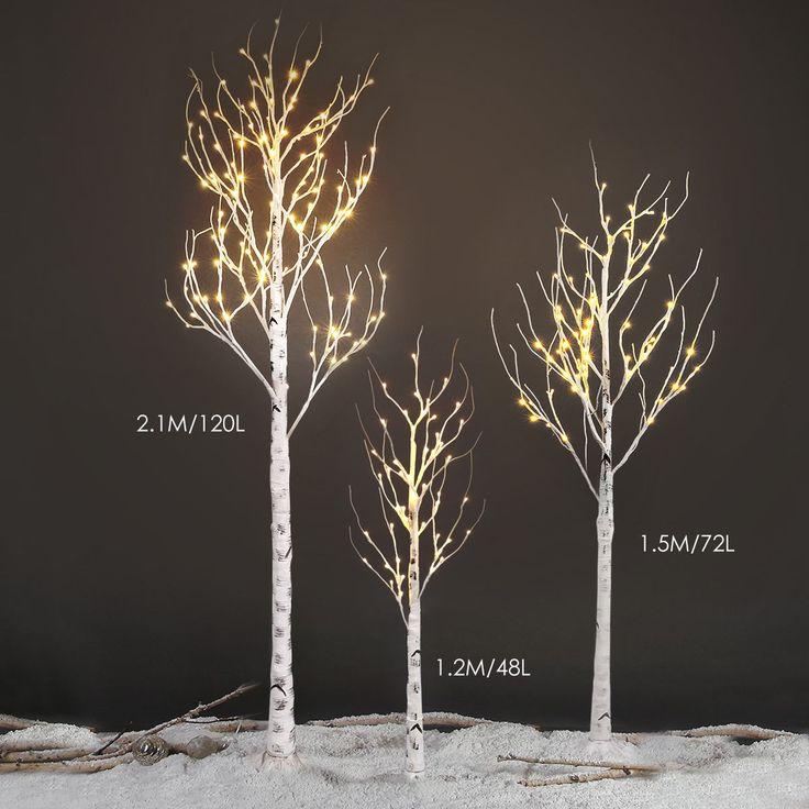 Best Au en LED Silber Birke Leuchtbaum Nachtleuchte Baum Licht Lampe Party Garten