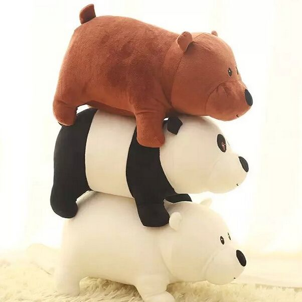 1 шт. 25 см Мы Голые Медведи Мультфильм Медведь, фаршированные Плюшевые Игрушки Solft Куклы, гризли Серый Белый Медведь Панда, подарок на день рождения, детские игрушки #men, #hats, #watches, #belts, #fashion, #style