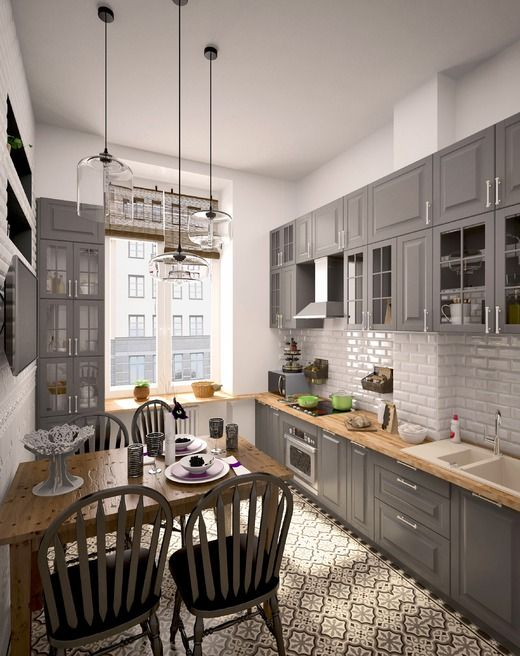 Квартира для пожилой пары. Кухня