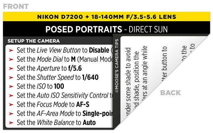Nikon D7200 Cheat Sheet   Best Settings for the Nikon D7200