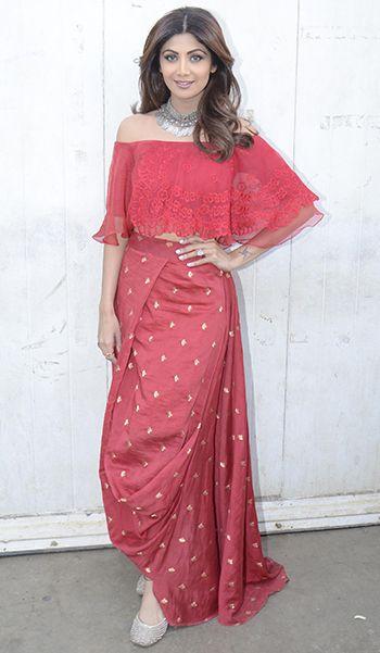 Shilpa Shetty in a Amoh by Jade ensemble