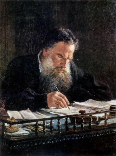 Nikolai Ge (1831-1894) : Portrait of Leo Tolstoy, 1884. Tretyakov Gallery, Moscow.: