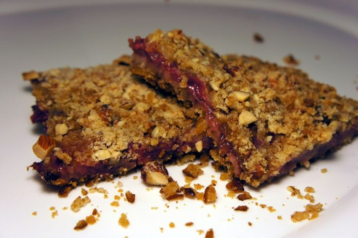Strawberry Fruit Bars with Snyder's Pretzel Crust and an Almond Crumble topping