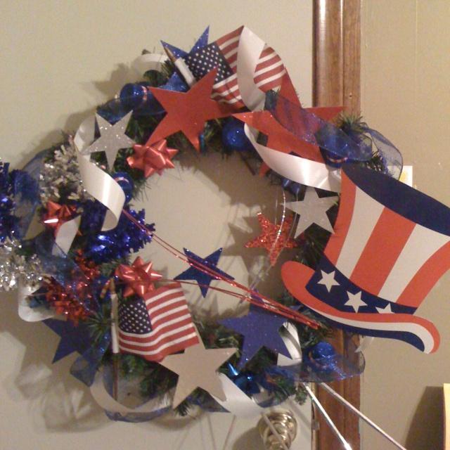 Tiny Craft Blue Ang Gold Christmas Wreaths