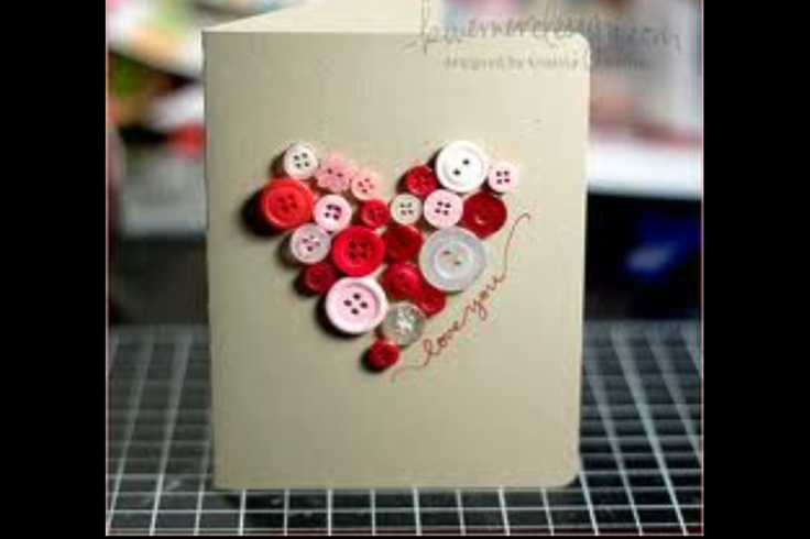 Button Valentine craft make like this but on felt for a valentine pin