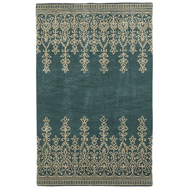An Option For The Dining Area Rug Pier One Imports Kushi Border Teal