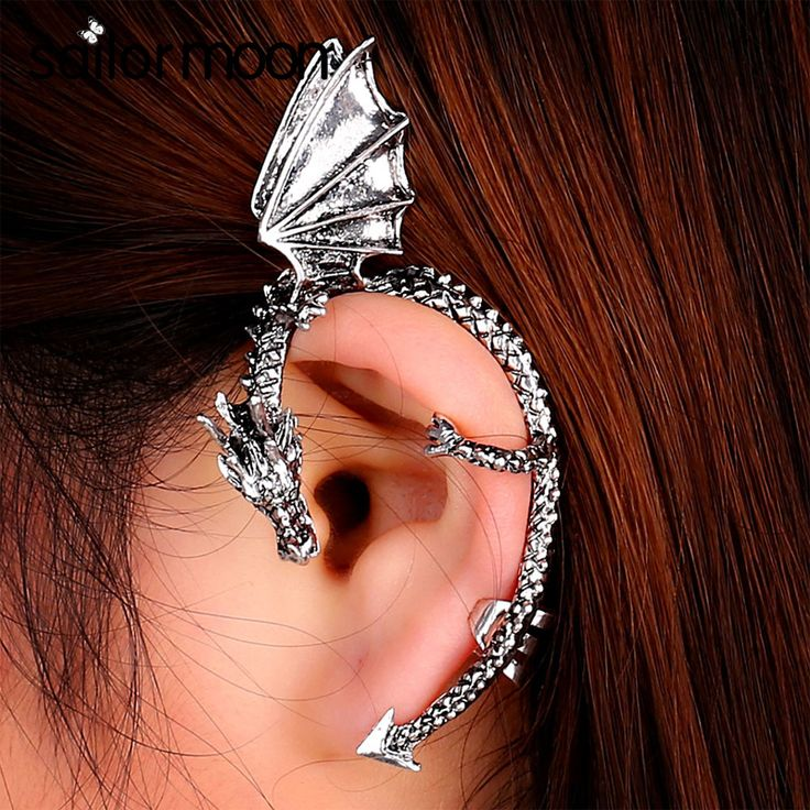 vintage Dragon Clip Earrings women jewelry Gothic Clip on Earrings female Ear Cuff punk Ear Clips without puncture