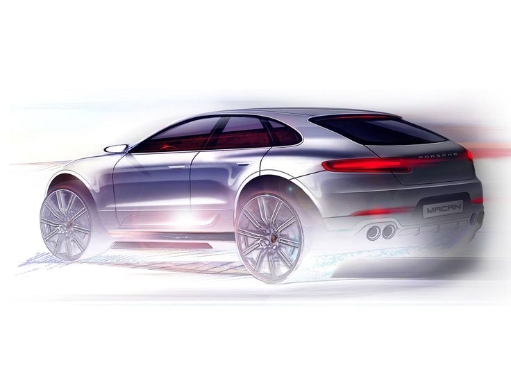Porsche Macan Design Sketch - Car Body Design