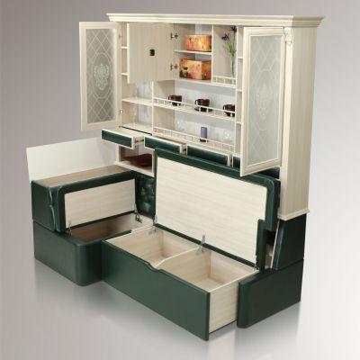 Кухонный буфет Б7.4-2 с диваном угловым  Б 7.1-2