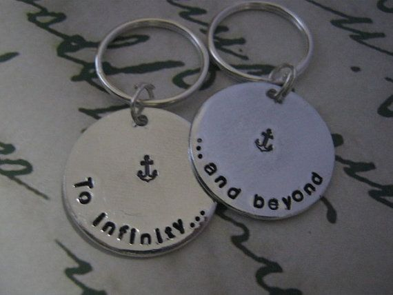 To infinity and beyond Keychain, Couples, Boyfriend girlfriend jewelry, Anniversary gifts for men, Long Distance Relationship, Disney