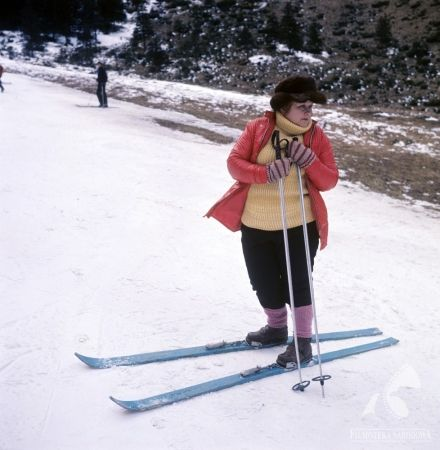 "Danuta Rinn in ""Bilans kwartalny"" - dir. Krzysztof Zanussi. #snow #winter #ski"