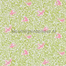 Larksong lime behang 214762 romantisch modern Sanderson