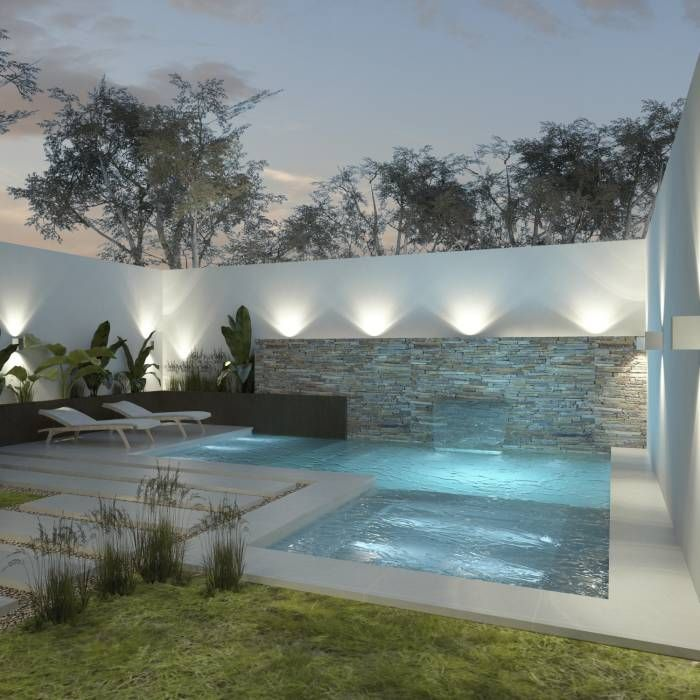 M s de 1000 ideas sobre casas minimalistas peque as en for Jacuzzi en patios pequenos