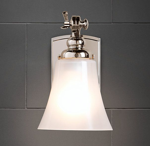 Bistro sconce skylight wells in kitchen butler 39 s pantry and tv lounge bronze finish Restoration bathroom lighting