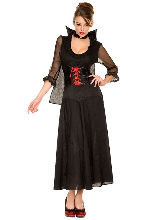 #MusicLegs #halloweencostumes   https://www.fifty-6.com/en/catalog/clothing/music-legs/halloween/vampire-dress Cod.: ml70111 #vampire   #dress   Vampire dress with cape. Color: black. Size: SM, ML, XL