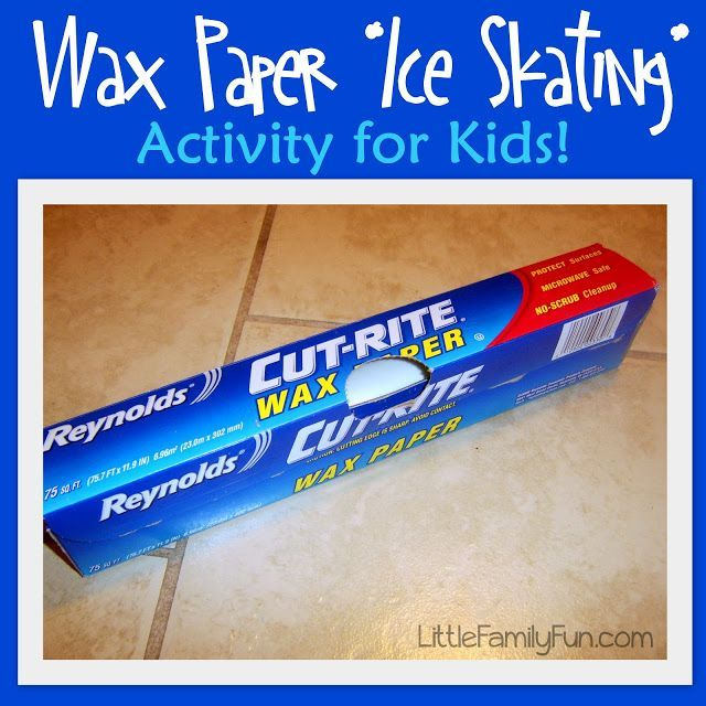 Wax Paper Ice Skating 25+ Indoor Winter Activities for Kids | NoBiggie.net