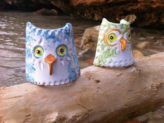 Ceramic Nuraghe owl figures