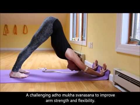 adho mukha svanasana variation for arm strength and