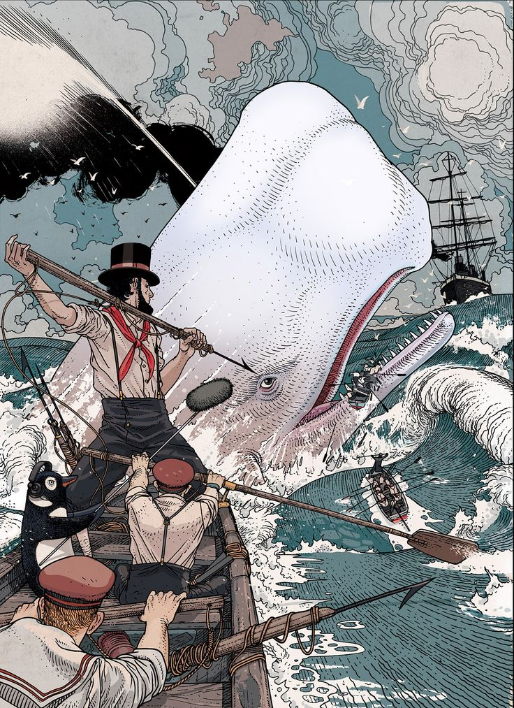 Moby Dick by artist Jared Muralt. | Cinema Gorgeous