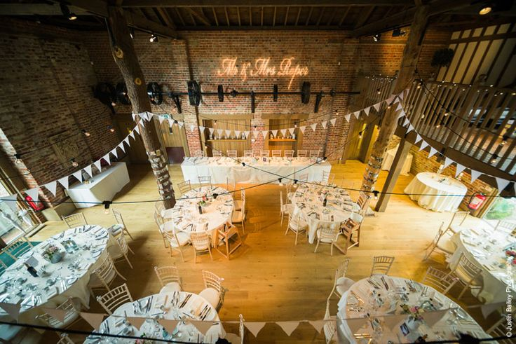 Bit big but I quite like the projected Mr & Mrs.... Gaynes Park - Barn Wedding Venue in Essex