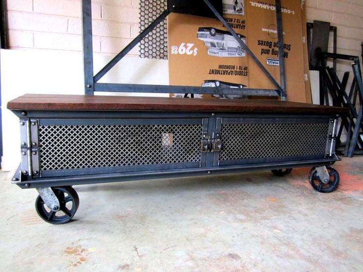 T ellis console 2 doors model e36 dajud muebles de for Muebles industriales metal baratos