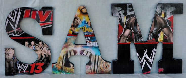 WWE Inspired Personalized/Customized  Wooden by annhenderson1422, $6.50