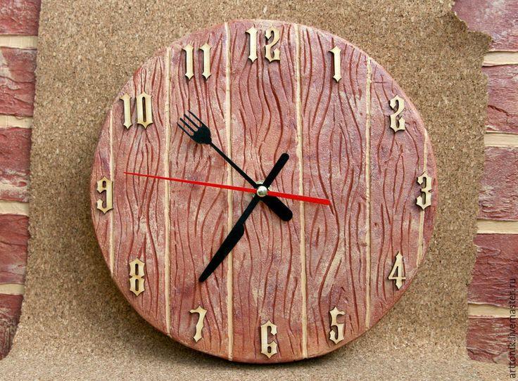 Купить Часы для кухни - часы настенные, часы, часы для кухни, единственный экземпляр, кораловый