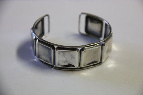 Vintage silver bracelet designer Eric Granit Finland. by Piippana