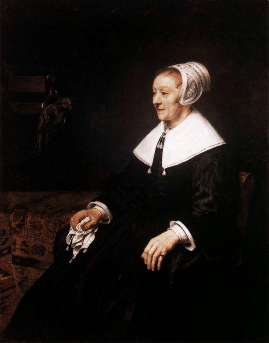 Рембрандт. Портрет Катарины Хоогсат. 1657. Кардифф (Уэльс). Национальный музей Уэльса.