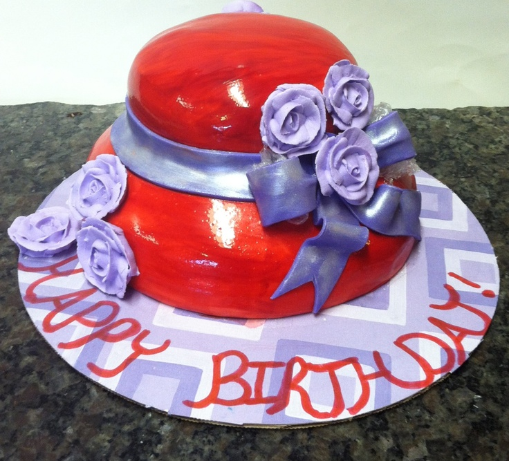 Red Hat Society Cake