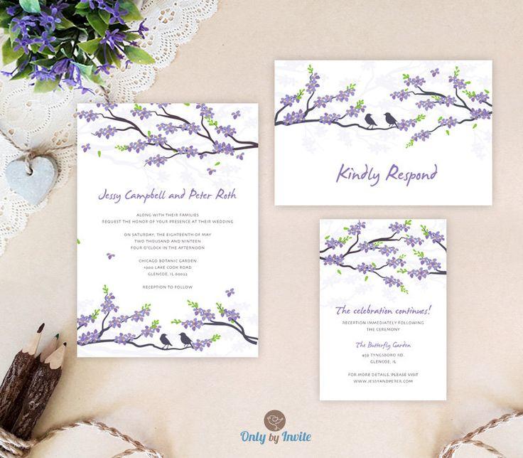 Tropical Beach Wedding Invitations Destination Weddings Purple And Blue Packs Invitation Rsvp Info Card