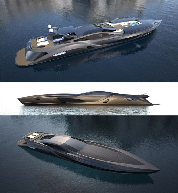 Super Sized Luxury Yacht Hides A Secret Sports Car