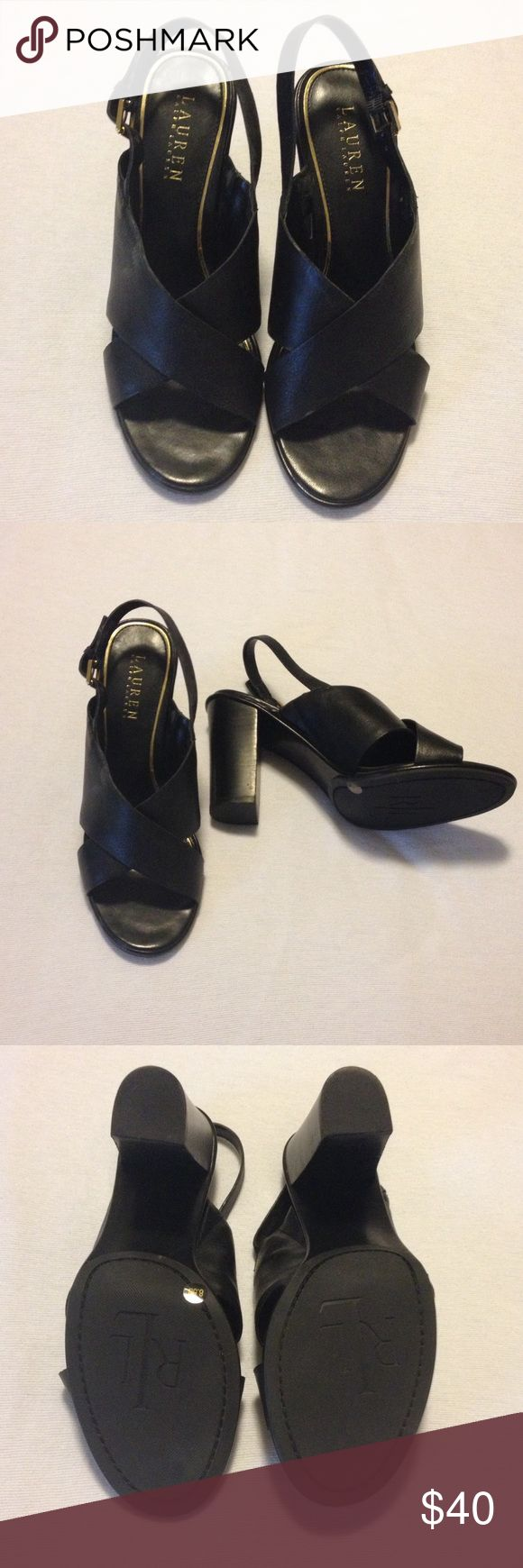 Women's slingbacks Great sling backs in excellent condition, literally worn once.  Great w/dresses, skirts or trousers.  Classic style can work in the office.  Bundle-bundle!! Ralph Lauren Shoes Heels