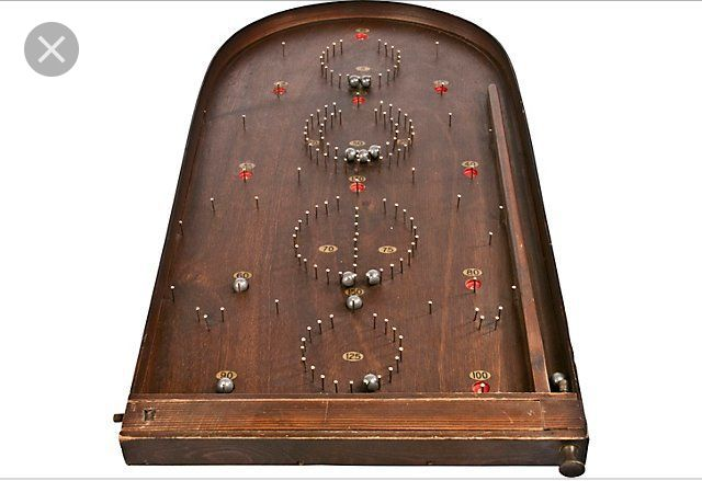 Use Nails To Make Bagatelle Pinball Pinball Game Antiques