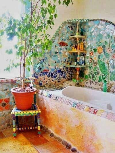 ☮ American Hippie Bohéme Boho Lifestyle ☮ Bath