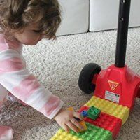 This is not only a children's scooter but also a Lego toy