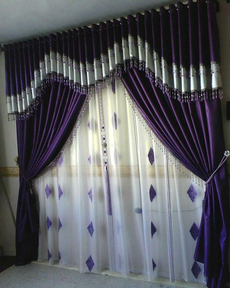 Mejores 47 im genes de cortinas en pinterest cenefas - Apliques para cortinas ...