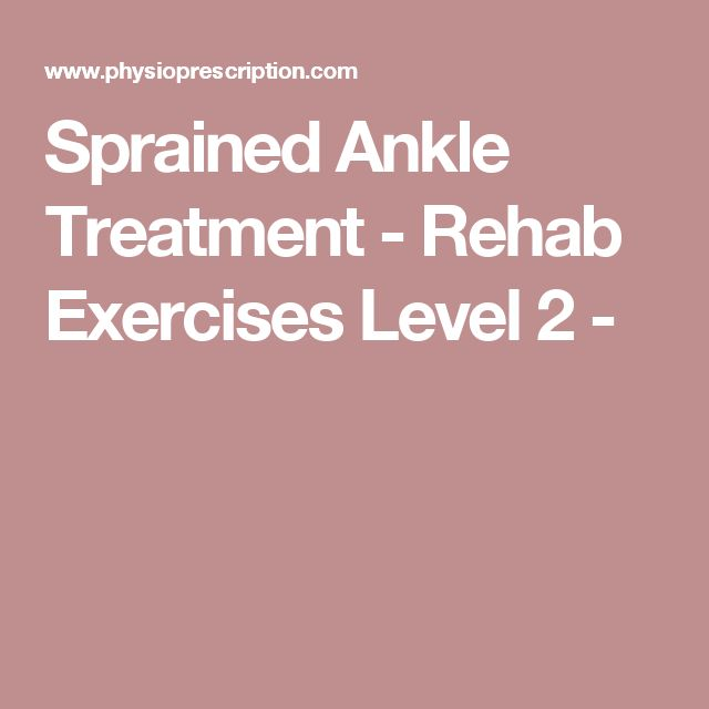 Sprained Ankle Treatment - Rehab Exercises Level 2 -