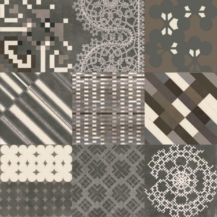 Pavimento/rivestimento In Gres Porcellanato Smaltato AZULEJ NERO FLORES  Collezione AZULEJ By MUTINA | Design
