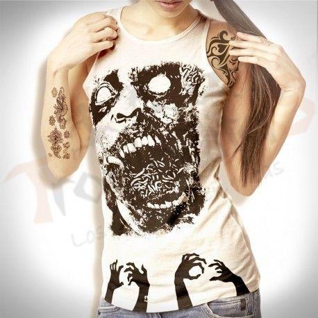 esquelto cuello redondo zombie hands, te brinda personalidad y comodidad
